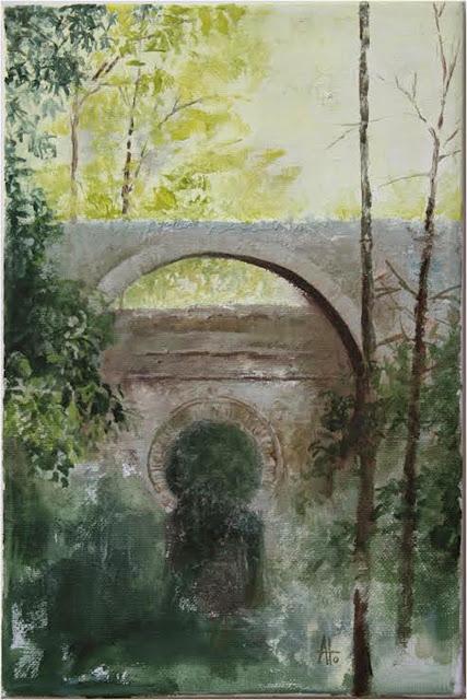 Bosque de La Al-Hambra,pintura de José Ato