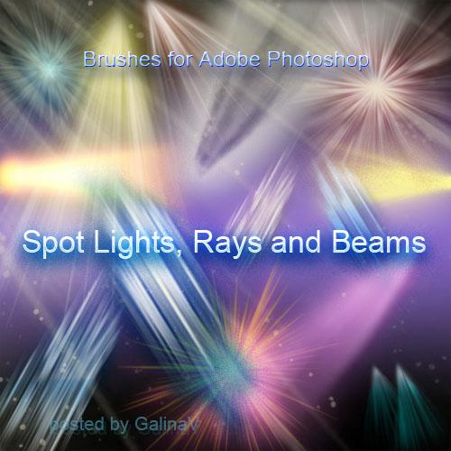 Кисти для Adobe Photoshop - Лучи, огни, вспышки