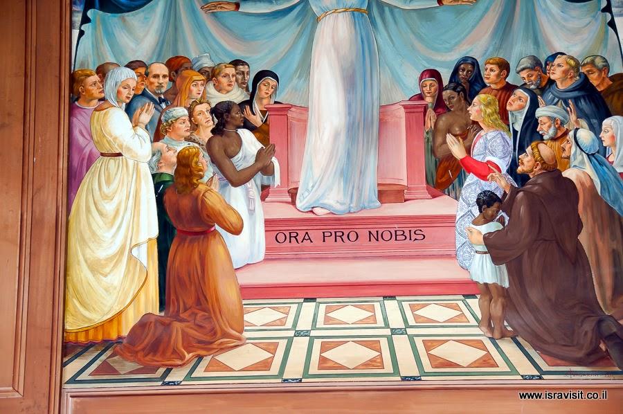 Церковь Посещения или Встречи, верхняя церковь, портрет Барлуцци на фреске.