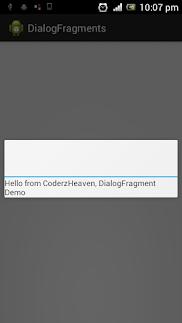 Dialog Fragment