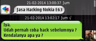 cara hack nokia e63