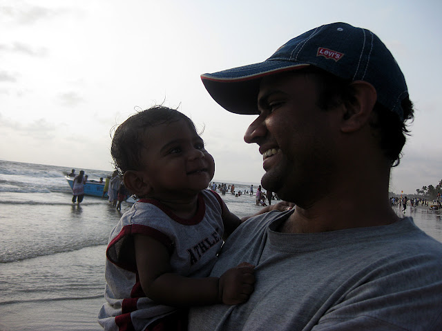 with romir on colva sea beach