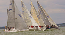 J/109s sailing off start- Vice Commodores Cup- Cowes, England