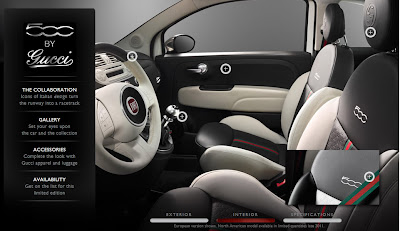 Fiat 500 by Gucci Interior