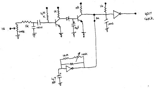 4017 sequencer clock and  or trigger