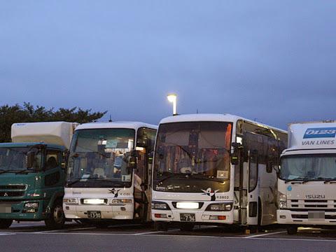西鉄高速バス「さぬきエクスプレス福岡号」 3802 壇ノ浦PAにて