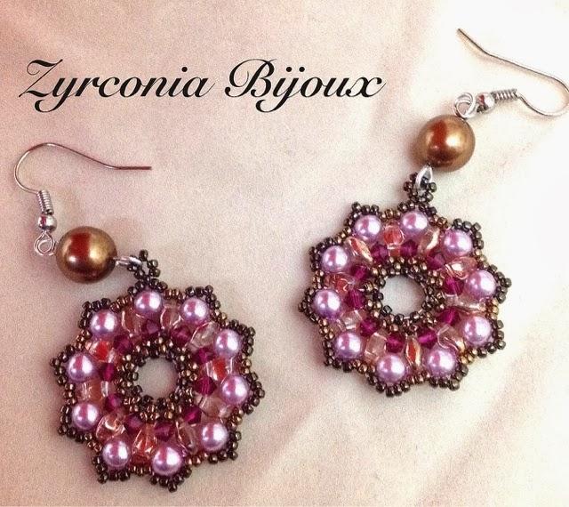 Popolare Zyrconia Bijoux: Patterns Beads: Orecchini cometa: nuova  DA23