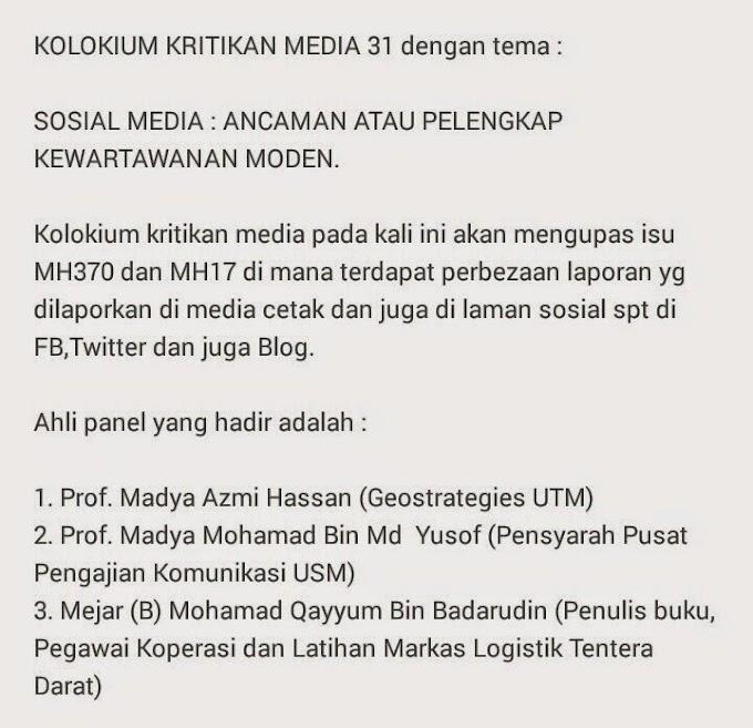Kolokium Kritikan Media 31
