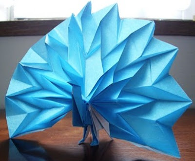 Origami Peacock 3D Make Easy Instructions Kids