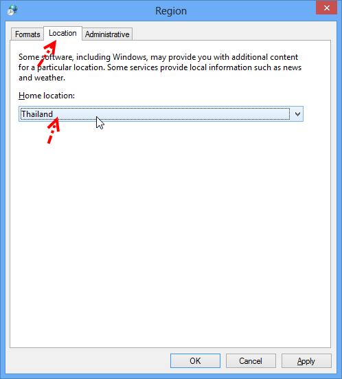 การเปลี่ยน Region Language บน Windows 8 ให้เป็นประเทศไทย W8lang04