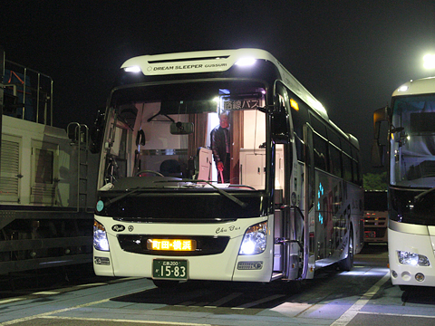 中国バス「ドリームスリーパー」 G1201 龍野西SAにて その2