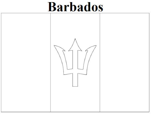 barbados flag coloring page - geography blog barbados flag coloring page