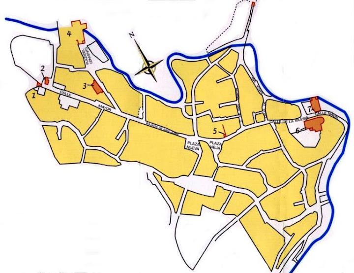 Plano del viejo Belchite