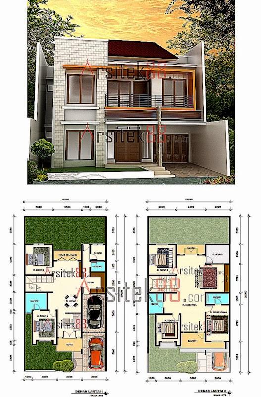 desain rumah minimalis dan denahnya