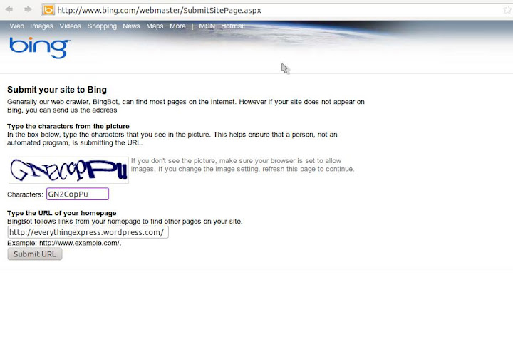 Submit your website to the Search Engine Google, Yahoo ...