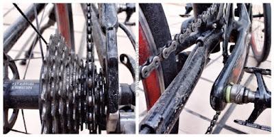 Bicicleta, Cadena y Piñones sucios
