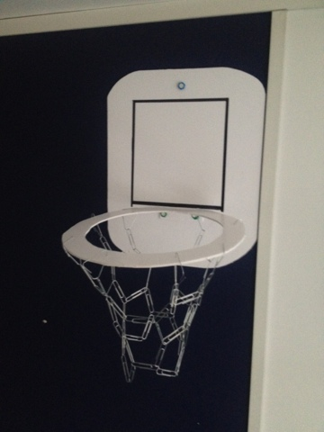 DIY Office Basketball Hoop