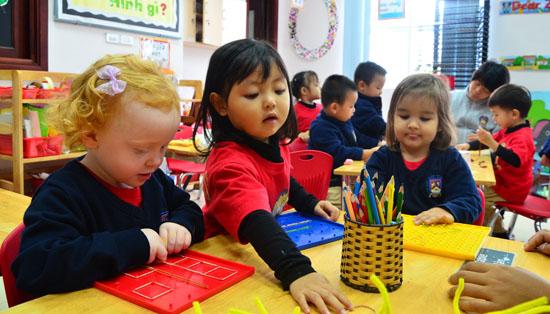 Trường mầm non tại dự án chung cư Bộ Công An - Cổ Nhuế