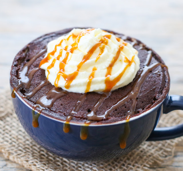 photo of a Salted Caramel Mocha Mug Cake