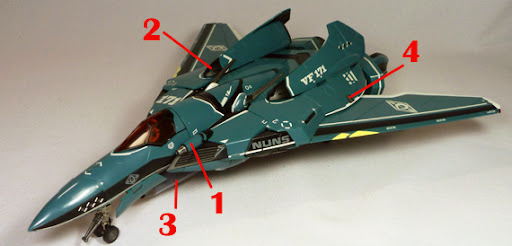 Macross Frontier VF-171 Nightmare Plus Armament weapon position