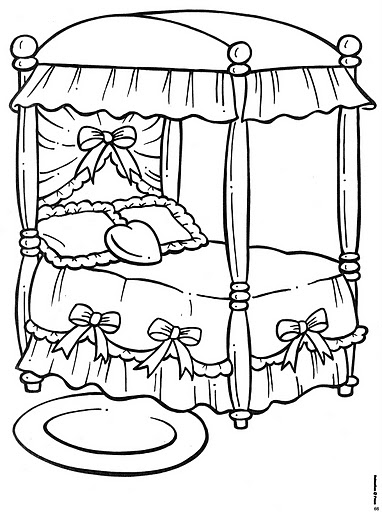 coloring pages of beds - photo#31