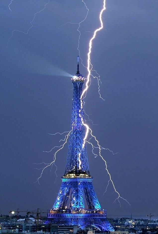 Eiffel Tower Struck By Lightning