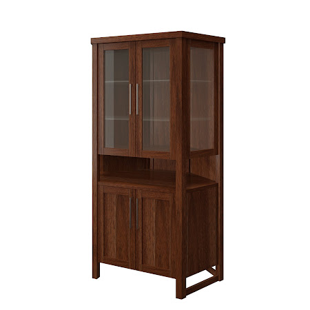 Sumatra Corner Cabinet in Alamo Walnut