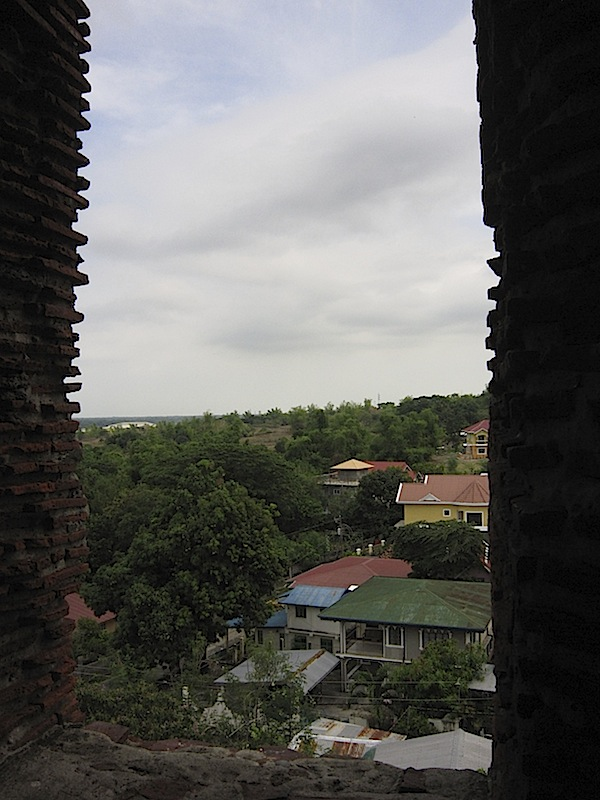 view from the bell tower of St. Augustine Church in Bantay, Ilocos Sur