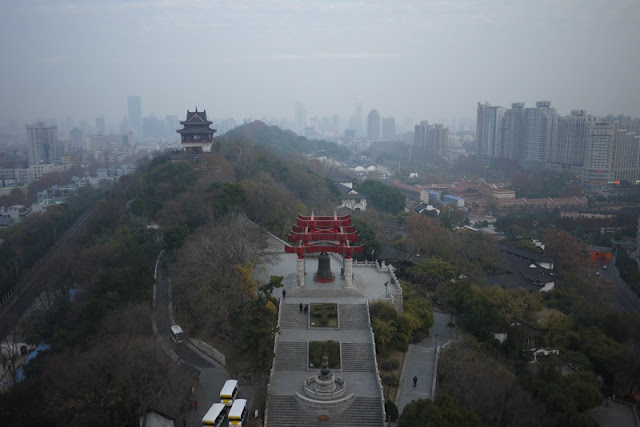 view of Wuhan from tower
