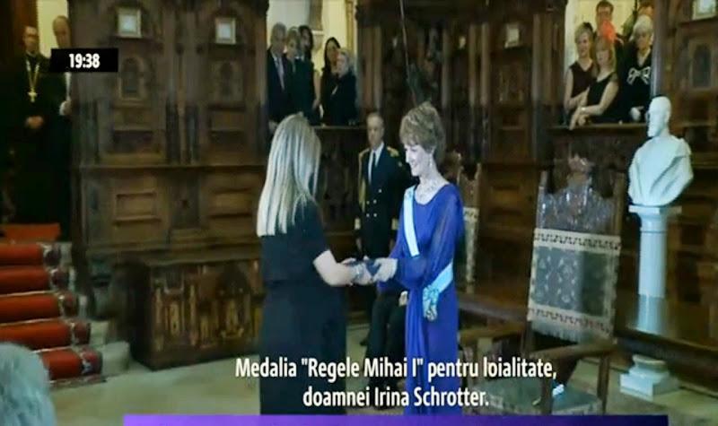 Irina Schrotter, decorata de ASR Principesa Mostenitoare Margareta a Romaniei