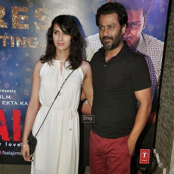 Abhishek Kapoor and Pragya Yadav during the success party of Bollywood movie 'Ek Villain', held at Ekta Kapoor's residence on July 15, 2014.(Pic: Viral Bhayani)