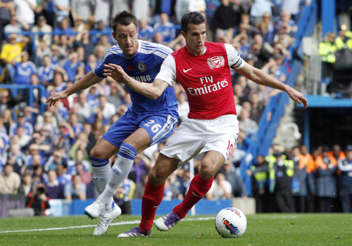 Robin Van Persie and John Terry, Chelsea - Arsenal
