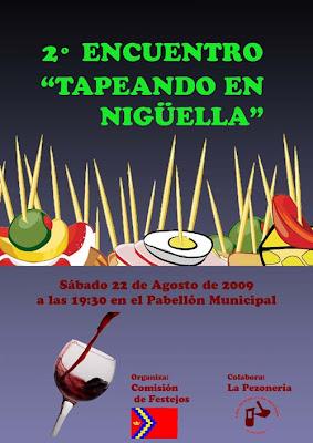 Cartel de las Tapas 2009