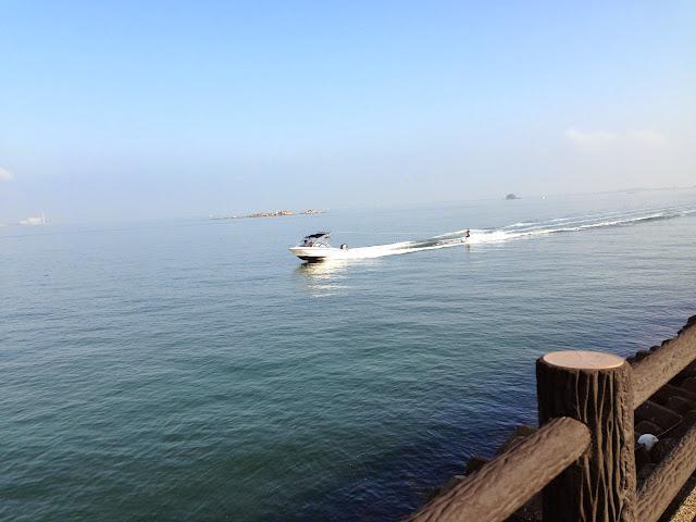 苅田港水上スキー2
