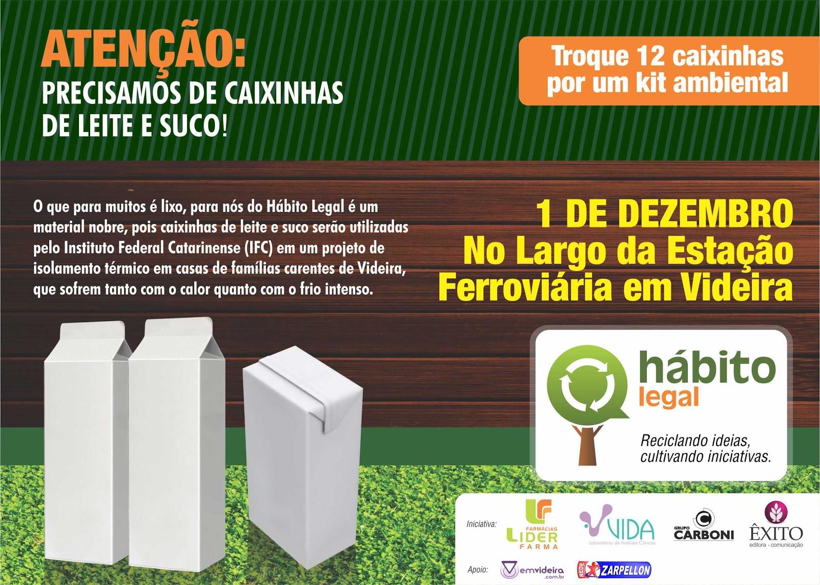 Hábito Legal: Recolhimento de caixinhas Tetra Pak é nesse sábado em Videira H%25C3%25A1bito%2520Legal Tetra%2520Pak Oficial