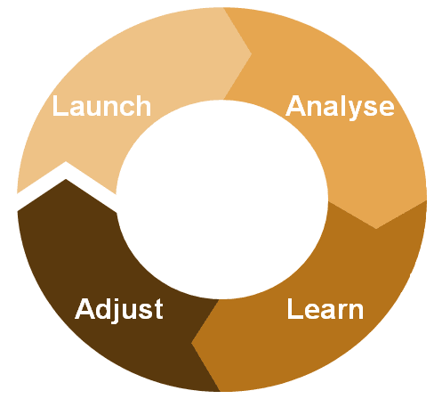 launch analyse learn adjust