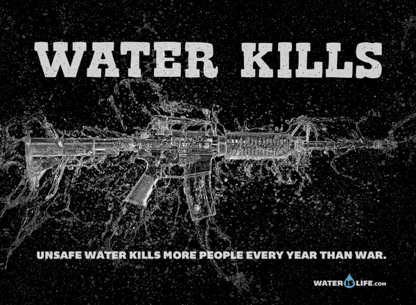 Water Kills campaign for Water is Life Organization via Miami Ad School