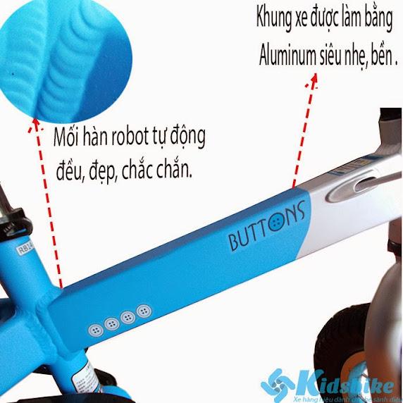 Xe đạp trẻ em Royal baby Buttons Aluminum mối hàn robot tự anh