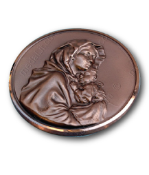 virgin mary 3d bronze medal