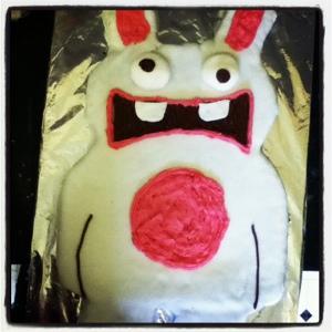 Rayman raving rabbids cake