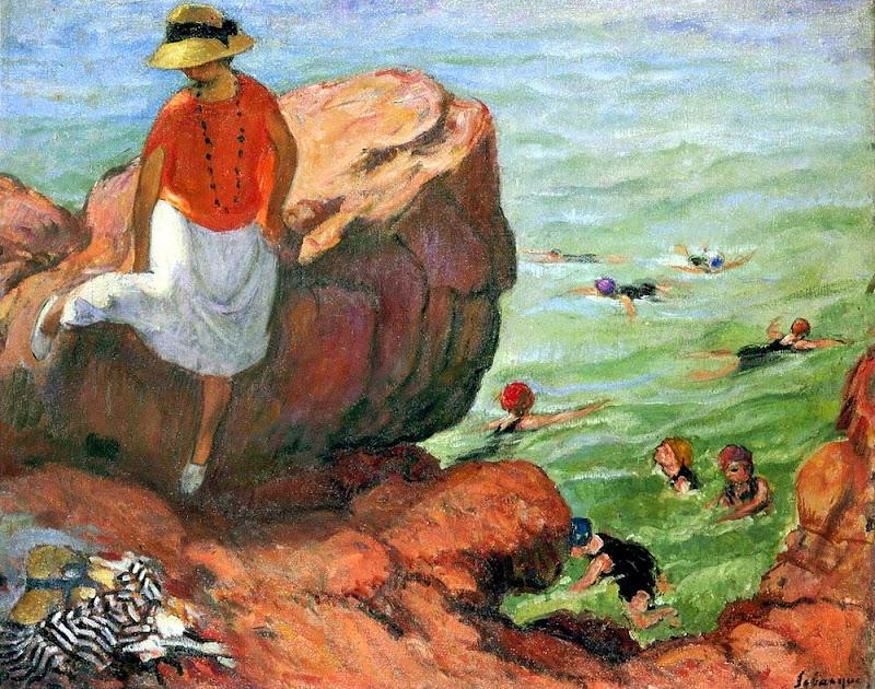 Henri Lebasque - On the Cliffs at Agay