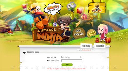 GameLandVN tặng 300 giftcode Vĩ Thú game Ninja 3