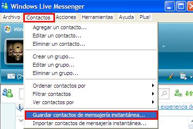lista de direcciones messenger: