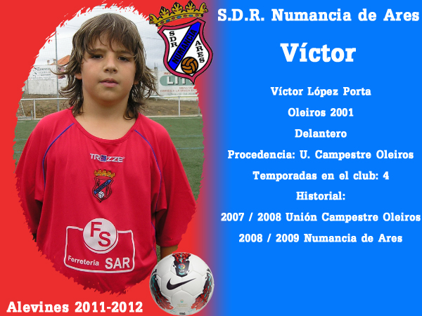 ADR Numancia de Ares. Alevíns 2011-2012. VICTOR.