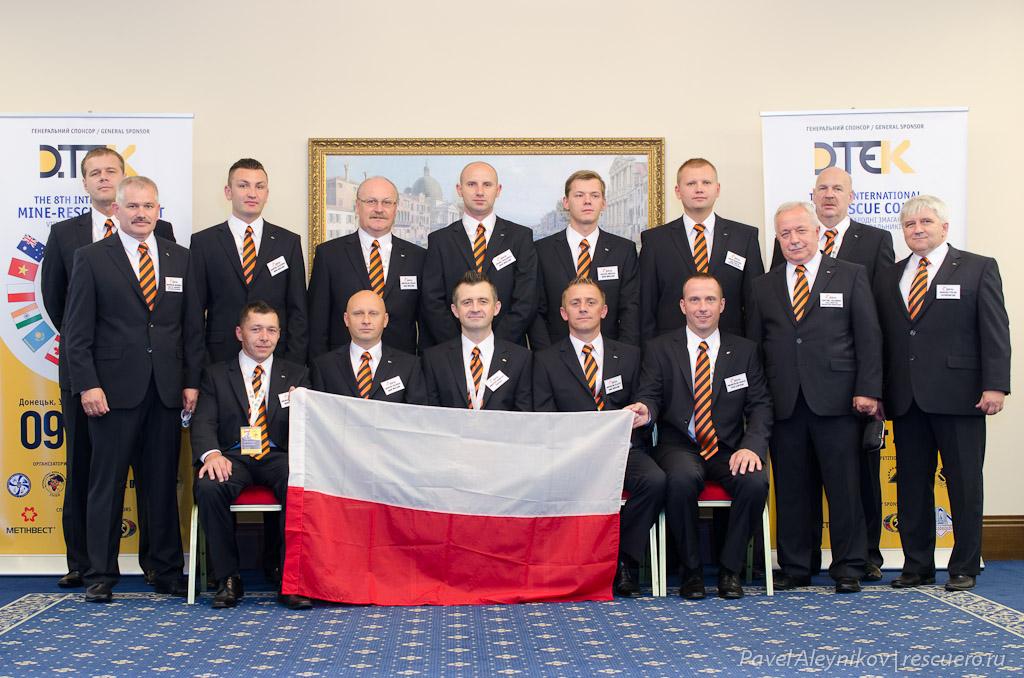 Команда горноспасателей из Польши