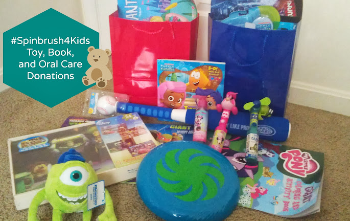 Donation Items for Our Champions for Kids SIMPLE Service Project #Spinbrush4Kids