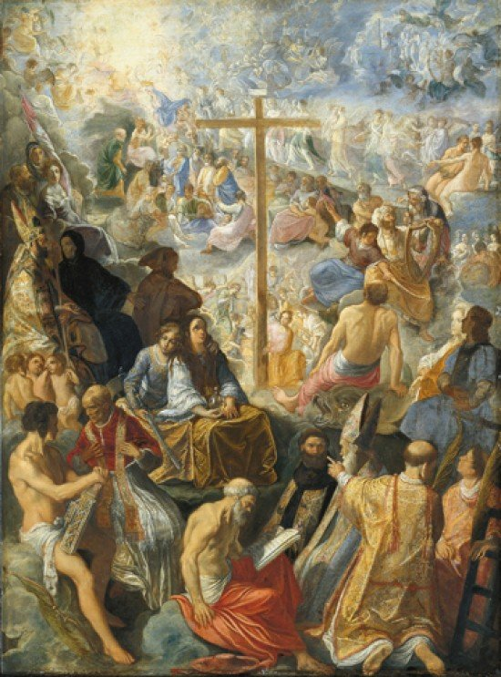 The Exultation of the Cross, by Adam Elsheimer (1578-1610)