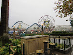 The dreary Paradise Pier area