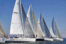 J/105 one-design sailboats- racer cruiser ultimate fun off San Diego, CA