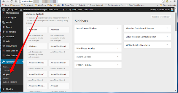 WordPress Widget Admin Section